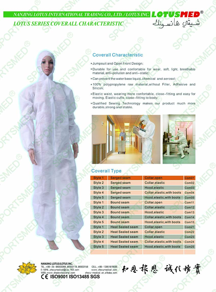 LOTUSMED COVERALL CHARACTERISTIC